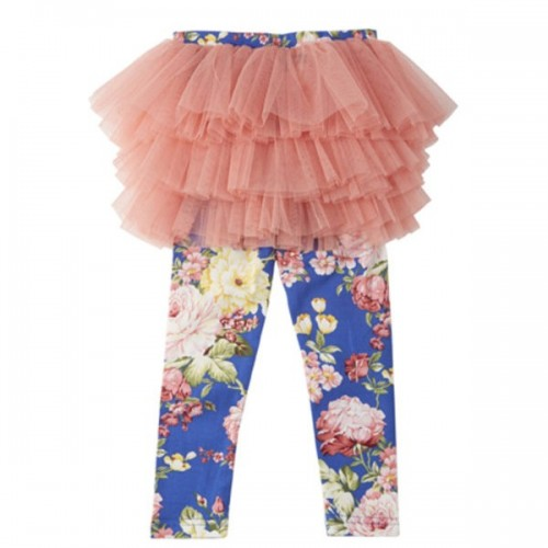 BLUE FLORAL Tulle Tights $48 by Tree Top Toy Shop