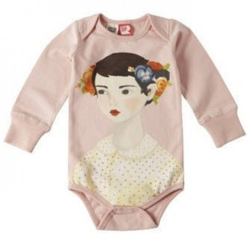 FLOWERS IN HER HAIR Long Sleeve Bodysuit $44 by Tree Top Toy Shop
