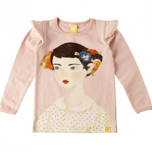 FLOWERS IN HER HAIR Long Sleeve T-Shirt $42 by Tree Top Toy Shop