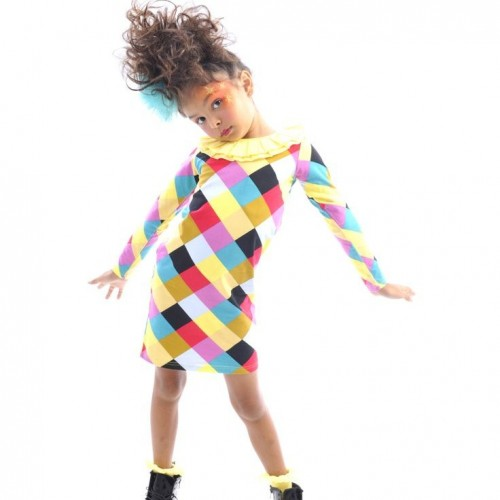 HARLEQUIN RUFFLE DRESS $48 by Tree Top Toy Shop