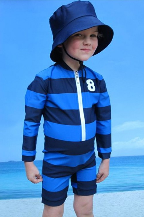 Navy Swim Hat by Tree Top Toy Shop