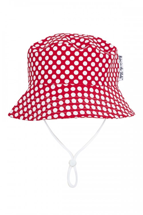 Raspberry Polka Dot Hat by Tree Top Toy Shop