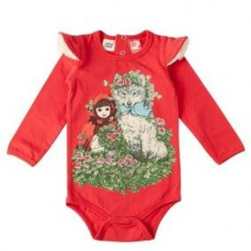 LITTLE RED RIDING HOOD Long Sleeve Bodysuit $44 by Tree Top Toy Shop