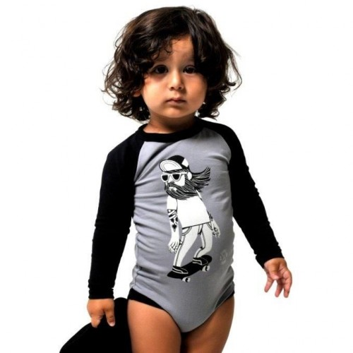 HIPSTER SKATER Long Sleeve Bodysuit $44 by Tree Top Toy Shop