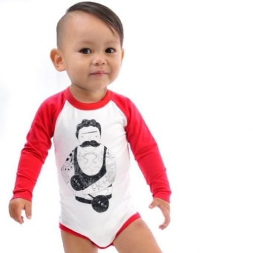 STRONG MAN Long Sleeve Bodysuit $44 by Tree Top Toy Shop