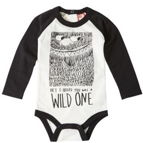 WILD ONE Long Sleeve Bodysuit $44 by Tree Top Toy Shop